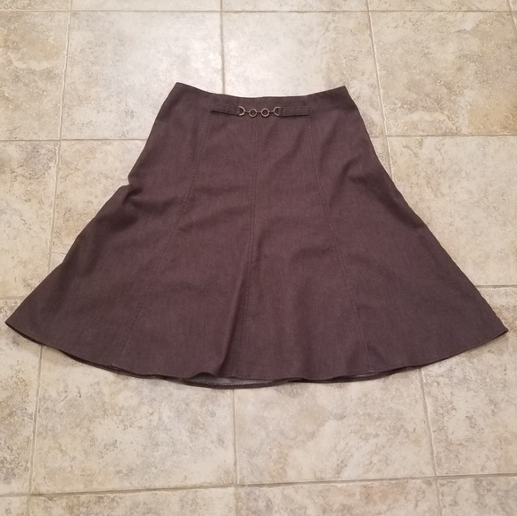 new york clothing company Dresses & Skirts - New York Clothing Co Great Cond Brown Circle Skirt
